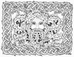 Mandala To Christmas Coloring Page Abstract Face