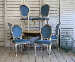 louis xvi chair antique chair vintage blue velvet traditionally finished louis xvi