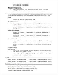 Resume Outline Template For Word DOC