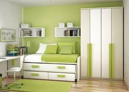 Green Young Woman Bedroom Design