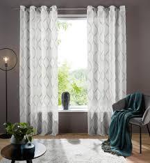 my home gardine davos my home ösen 1 stück transparenter stoff kaufen otto