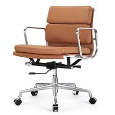 Dwr Eames Soft Pad Management Chair by Mcm Classics Leather Soft Pad Office Chair Softpad In Camel Brown
