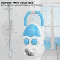 wasserdichtes duschradio am fm radio mit lautsprecher für nachttisch im badezimmer garage blau badezimmer wasserdichtes radio musikradio