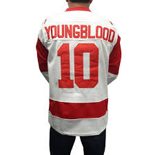Dean Youngblood 10 Mustangs Hockey Jersey Costume Movie Uniform