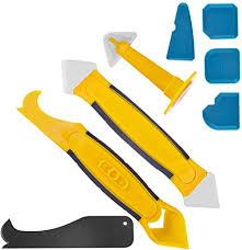 silikonentferner silikon fugenwerkzeug caulk düse multifunktional 8 in 1 profi silikon werkzeug schaber für küche badezimmer boden dichtstoff