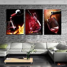 großhandel hd leinwand drucke 3 stück moderne küche leinwand gemälde rotwein tasse flasche wandkunst ölgemälde bar esszimmer dekor bilder kein rahmen