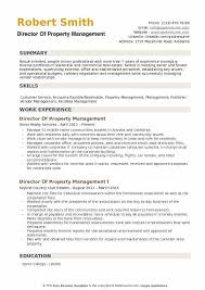Director Of Property Management Resume Example