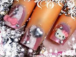With Hello Kitty Hello Kitty D Acrylic Short Nail Art Design