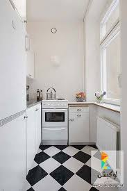 Wonderful Clean White Small Apartment Interior Design With Minimalism In Mind Black Kitchen Floor