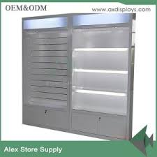 white wall wood mdf showcase display cabinet design glass display