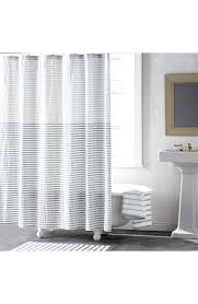 Gold And White Curtains Target by White Shower Curtain With Red Ticking Stripe Rows Of Ruffles Red