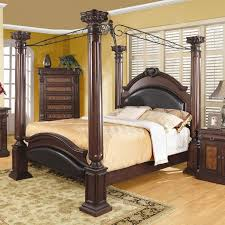 Queen size Canopy Bed 4 Poster Bed with Posts