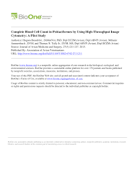 Rbc Tile Stone Of Iowa by Complete Blood Cell Count In Psittaciformes By Using High