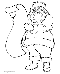 Excellent Idea Small Printable Coloring Pages Free Santa Claus Barriee