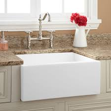 Belle Foret Farm Sink by Allinone Undermount Copper 33 In 0hole Rounded Single Basin White