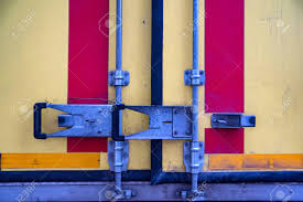 100 Truck Doors Colorful Matel Latch On Back Stock Photo Picture And