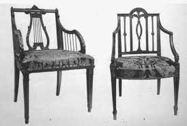 Lyre Back Chairs Antique by Lyre Back Arm Chair Mahogany Sheraton Elizabethan Jacobean