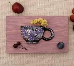 exklusive wanddeko mit trockenblumen für die küche oder esszimmer handmalerei