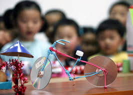 A Handicraft Made Of Waste Materials Is Shown To Children In Hongqiao Kindergarten Suzhou East Chinas Jiangsu Province April 20 2009