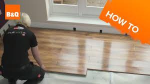 Sams Club Walnut Laminate Flooring by How To Lay Flooring Part 3 Laying Locking Laminate Youtube
