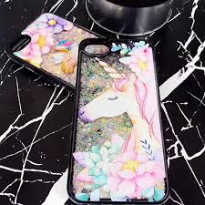 Llama Unicorn Rainbow Glitter Liquid IPhone Case