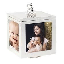 cadre photo bapteme personnalise cadre boite à bijoux musicale ourson personnalisé premiercadeau