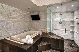 contemporary master bathroom with slate tile floors master