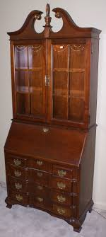 solid cherry jasper cabinet company block front chippendale