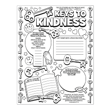 Color Your Own Key To Kindness Posters