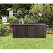 teak outdoor patio deck storage box for outdoor furniture cushions