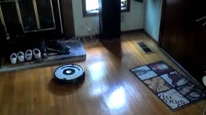 Roomba For Hardwood Floors wood floor and roomba youtube