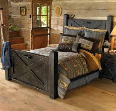 Image Detail For Rustic Black Distressed Barn Door Bed Queen