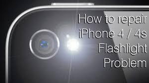 How to fix iPhone 4 4S flashlight problem [destructive fix