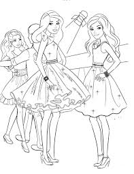 Download Coloring Pages Christmas Barbie Free