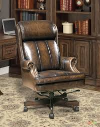 Executive Office Desk Chair Genuine Brown Leather Traditional W ... Hooker Fniture Juliet Transitional Home Office Swivel Chair Olsen Desk Pier 1 Displaying Gallery Of Nailhead Executive Chairs View 13 Traditional Leather Leather Office Chairs Shop The Best Linon Decor Sinclair With Nailheads At Lowescom Deep Tufted Black English Chesterfield Style Rolling Draper Chrome Base And Amazoncom Ashley Signature Design Adjustable Century Ding Princess For Toddlers Steelcase Contemporary By New Pretty Fice 115 Best Stone Beam Wheels