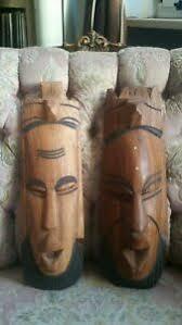 details zu afrikanische maske holz deko zum aufhängen wohnzimmer dekomaske afrika