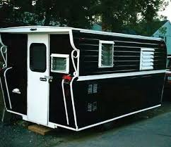 1960 Lincoln Vintage Trailer Great Black And White Paint Job