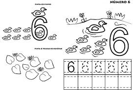 Learn To Count Number 6 Colouring Page Coloring