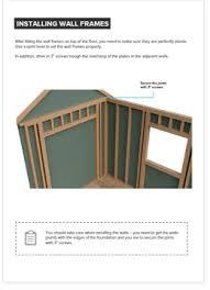 8x12 gable storage shed plan howtobuildashed org
