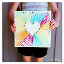 Heart String Art Via Sugar Bee Crafts