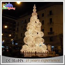 20FT Outdoor Warm White Ball Decoration Metal LED Christmas Tree Light