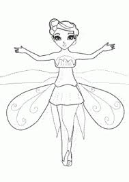 Flying Fairy Coloring Pages For Kids Printable Free One