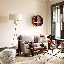 Curved Floor Lamp Next by Mid Century Tripod Floor Lamp Antique Brass West Elm