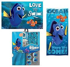 Disney Finding Nemo Bathroom Accessories by Amazon Com 15pc Disney Finding Nemo U0026 Dory Shower Curtain Bath