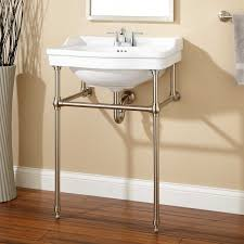 Kohler Tresham Pedestal Sink 30 by Cierra Console Sink With Brass Stand 4