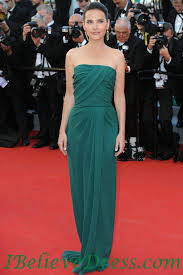 Evening Dresses Red Carpet virginie ledoyen emerald strapless evening dress 2012 cannes film