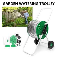 100 Truck Pipe Rack Garden Hose Portable Water Garden Watering Trolley ABS
