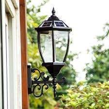 22 h vintage style large led outdoor solar wall lighting in