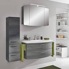 badezimmer spiegelschrank 100cm cervia 66 graphit struktur led beleuchtung b h t 100 67 17 cm