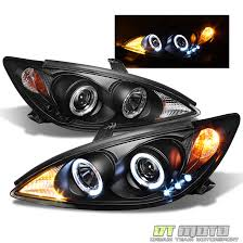 blk 2002 2006 toyota camry led halo projector headlights ls